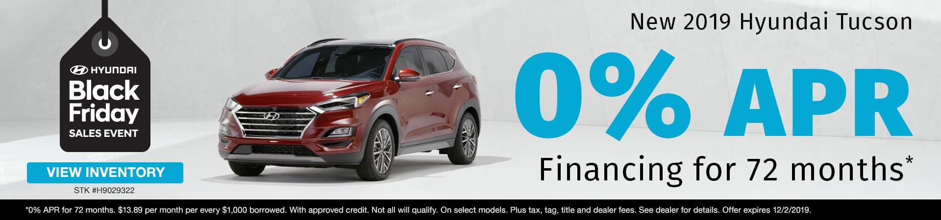 Get 0% APR Financing on a new 2019 Hyundai Tucson in Murfreesboro TN