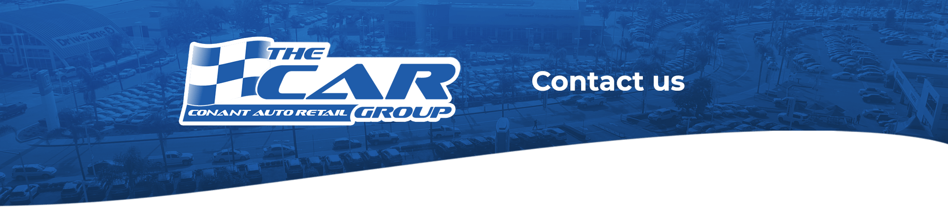 The Car Group Contact Us banner