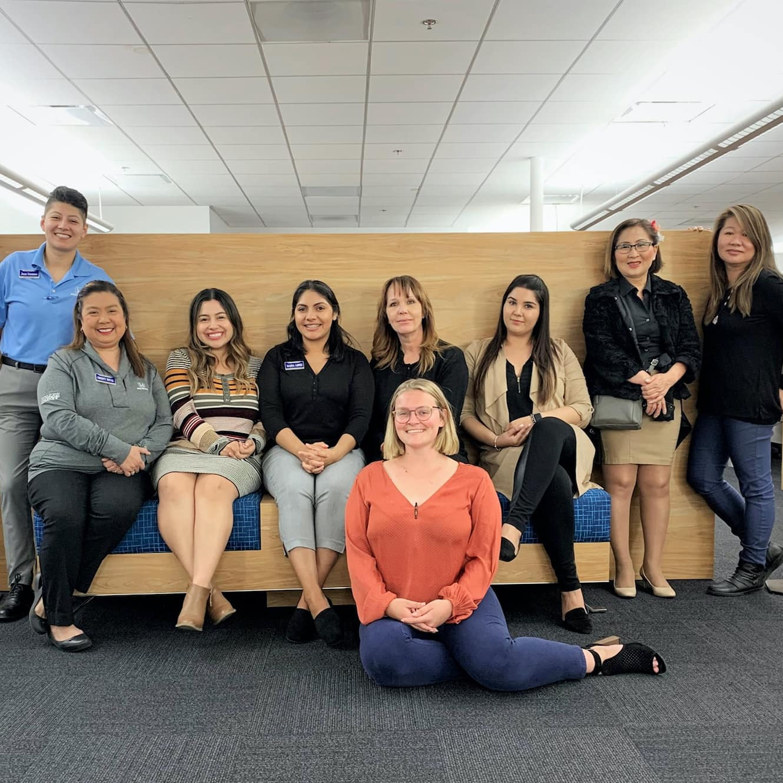 business center group photo women