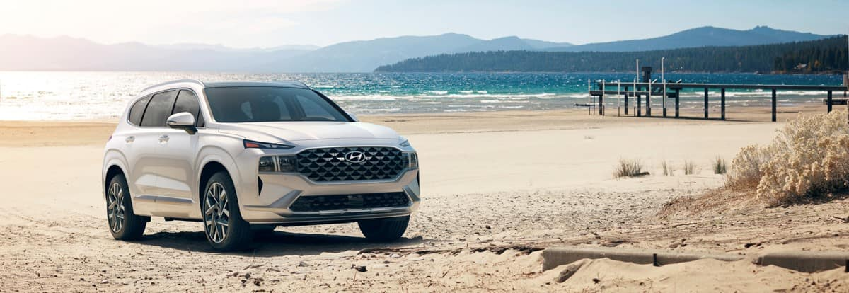 2021 Hyundai Santa Fe on the beach