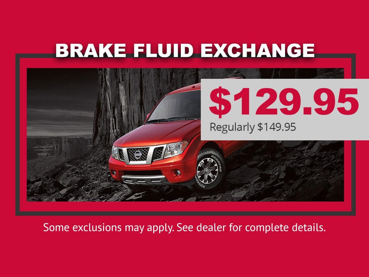 Nissan Brake Fluid Exchange Special in Mission Bay