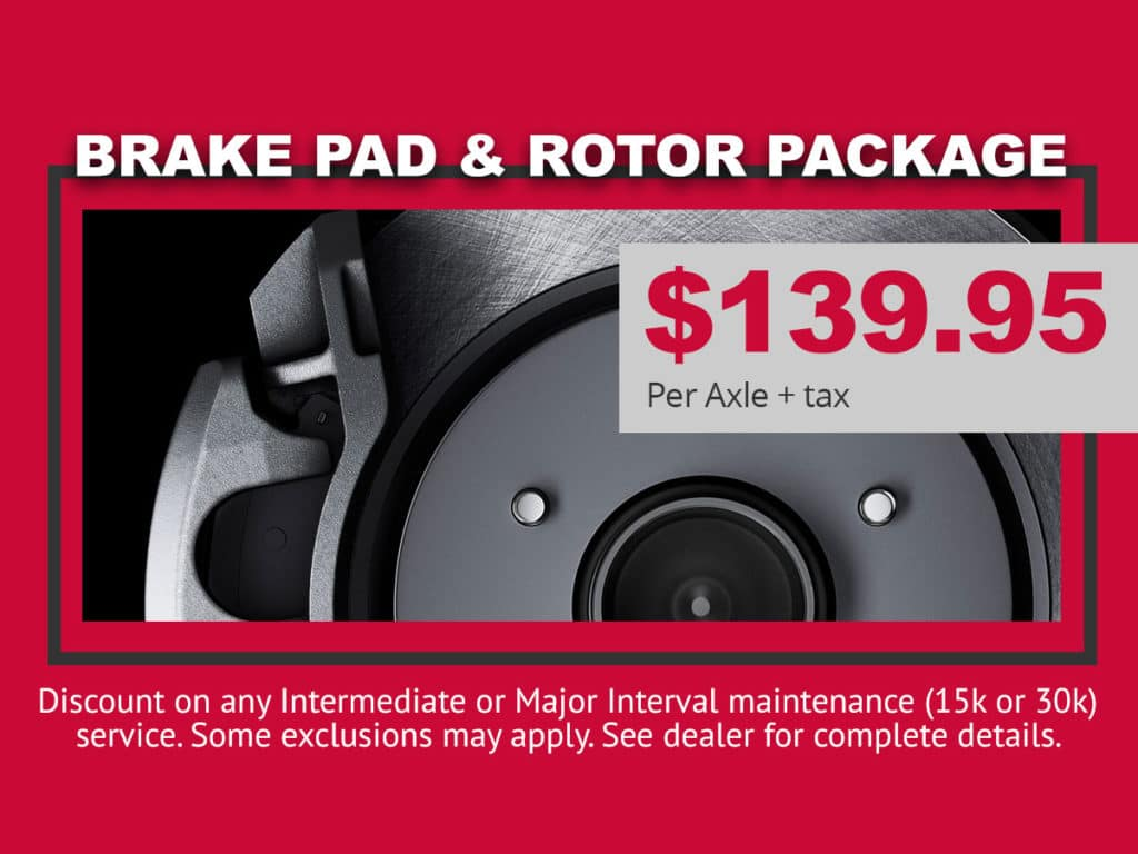 Nissan Brake Pad Rotor Special
