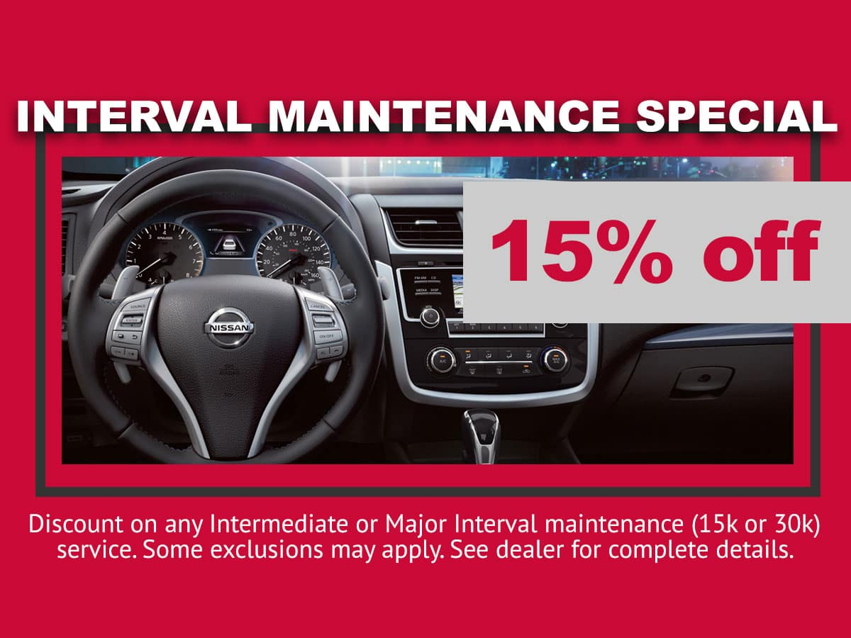 Nissan Interval Maintenance Special in Mission Bay
