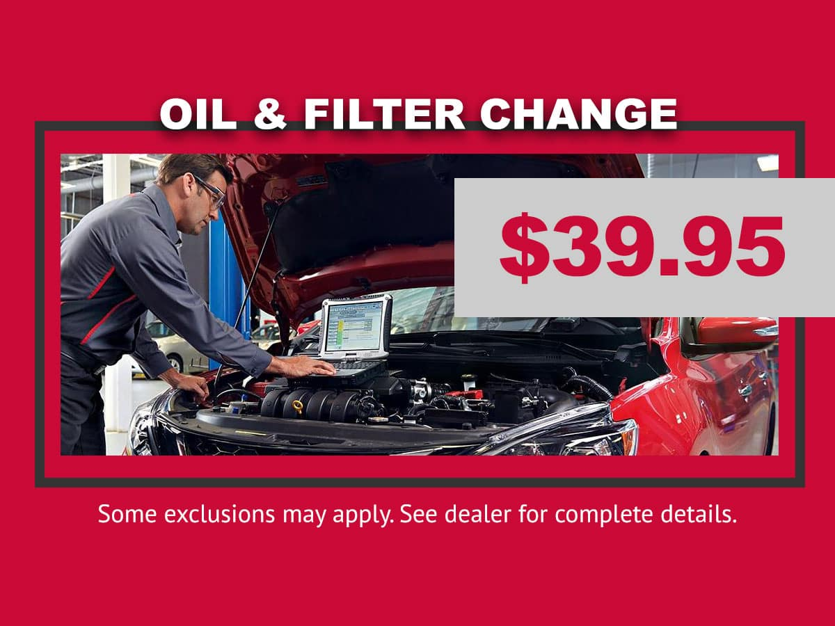 Lang Nissan Oil Change Special in Mission Bay