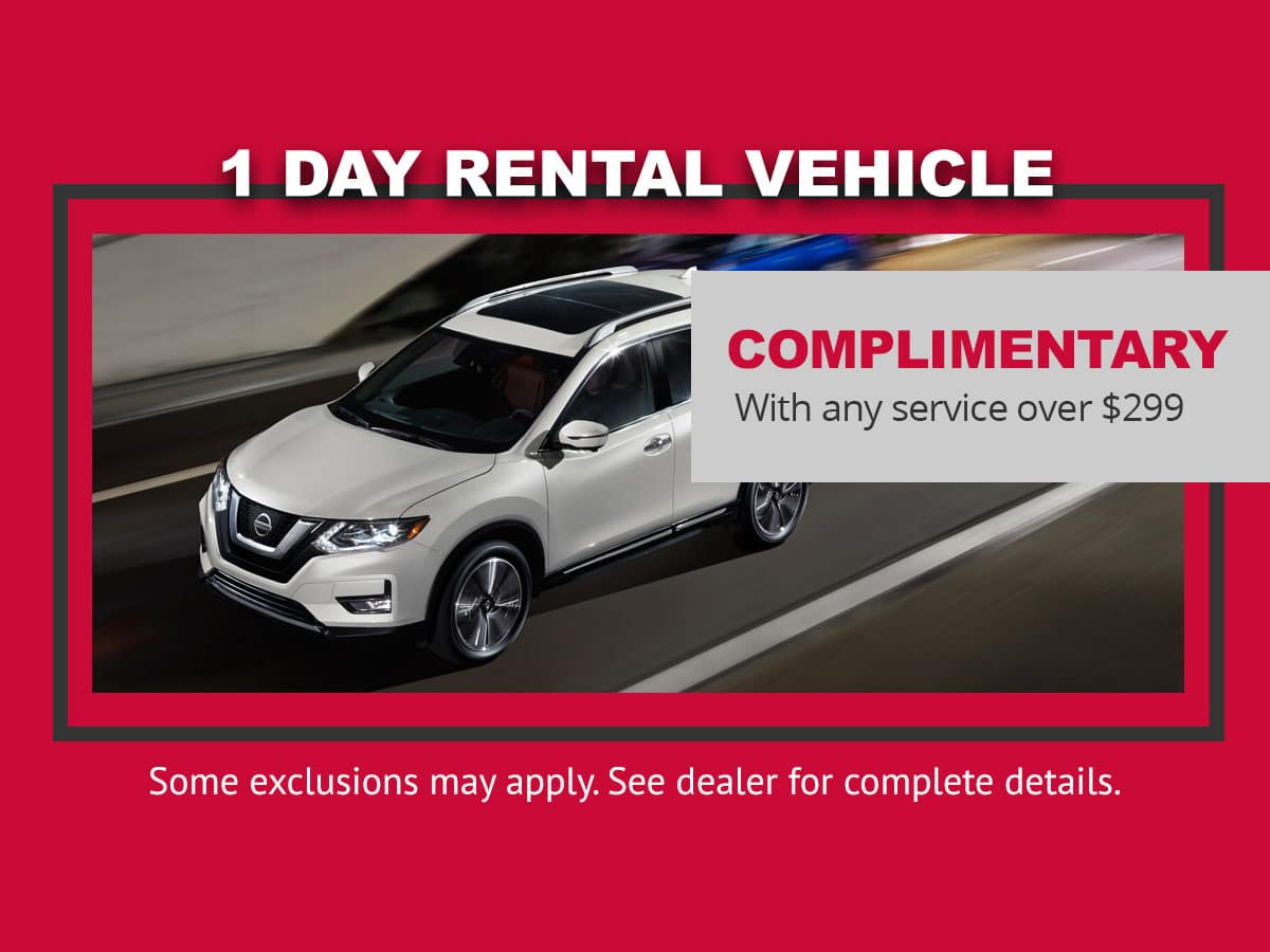 Nissan Rental Car Special in Mission Bay