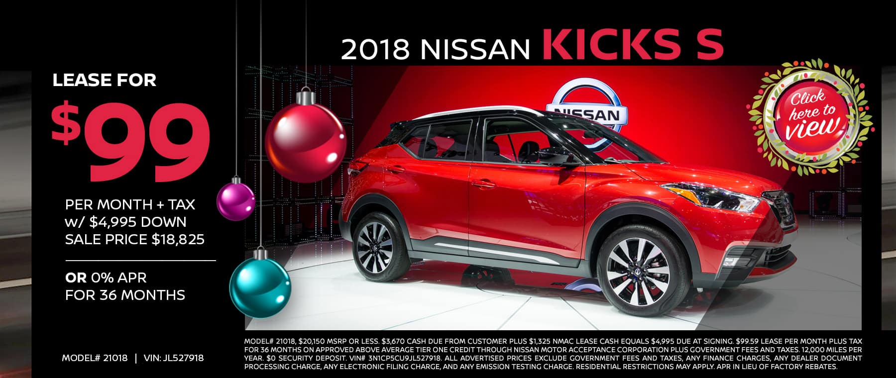 nissan kicks end of year