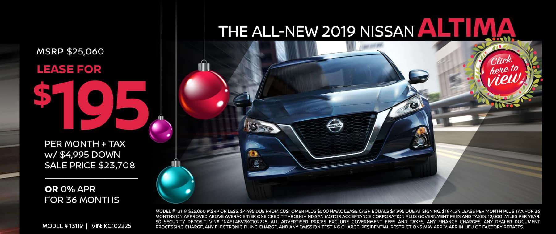 Nissan Altima 2019 specials