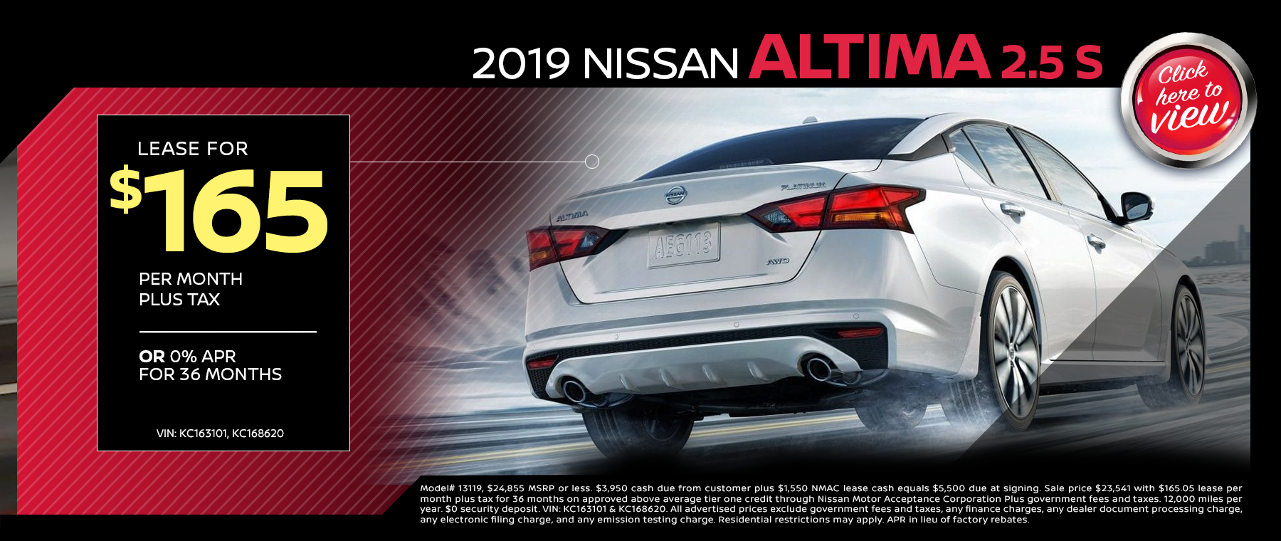 2019 NISSAN ALTIMA LEASE