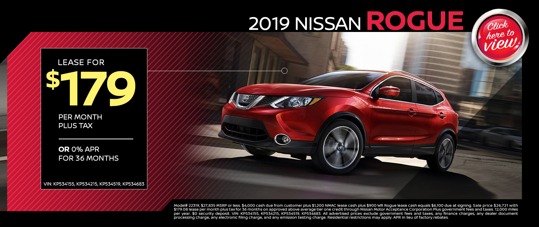 2019 NISSAN rouge LEASE MARCH