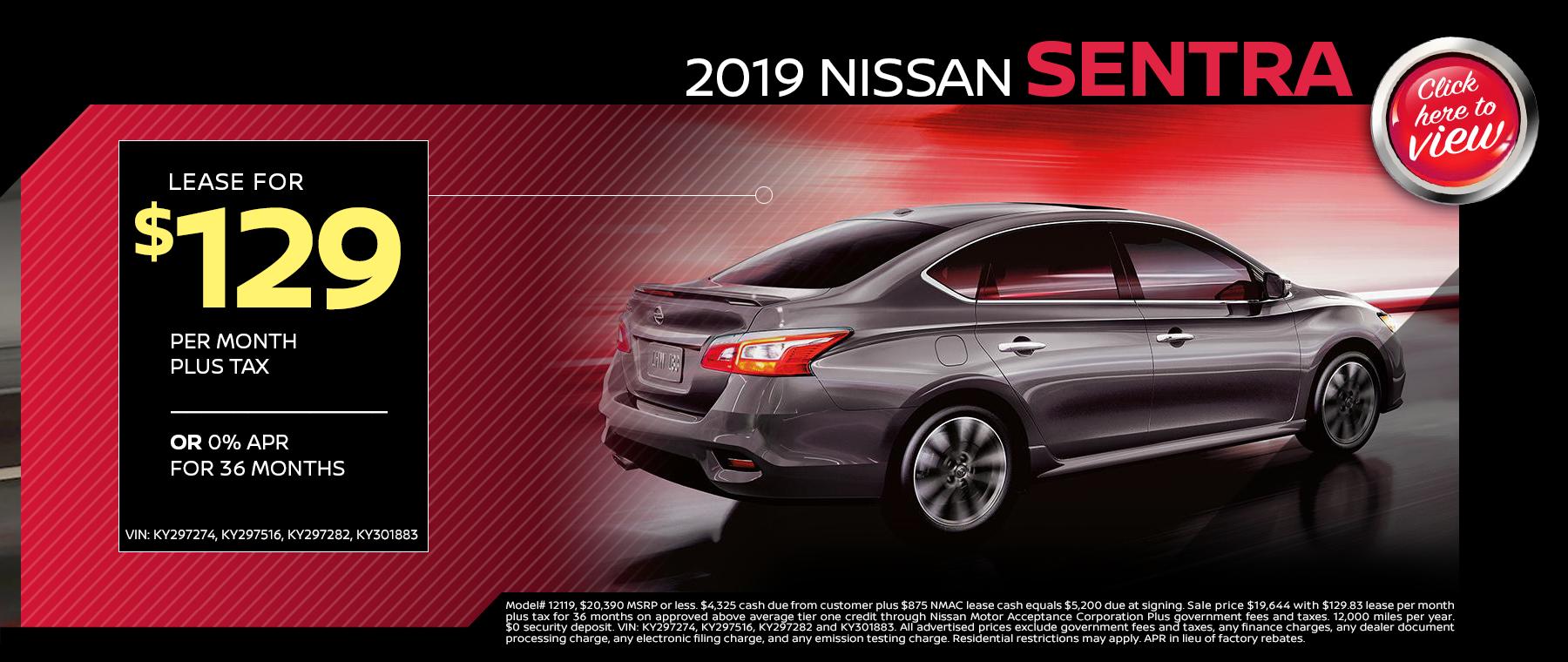 nissan sentra lease