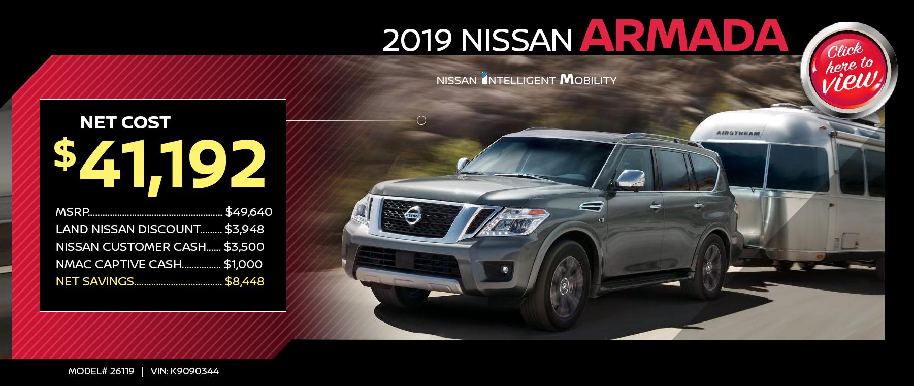 2019 Nissan Armada Specials