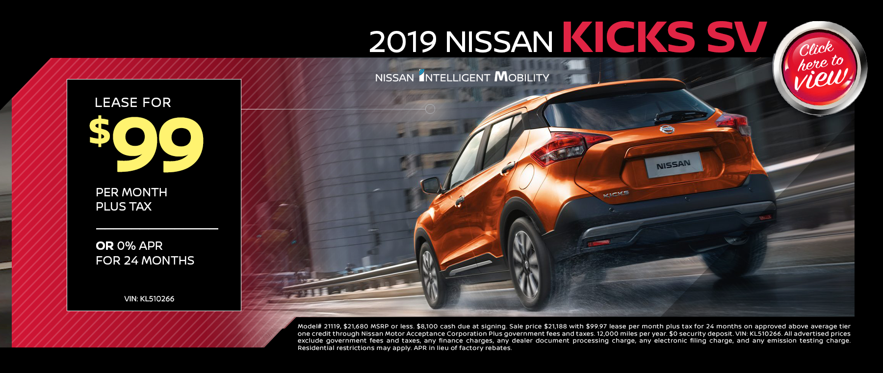 2019 Nissan Kicks Lease Special