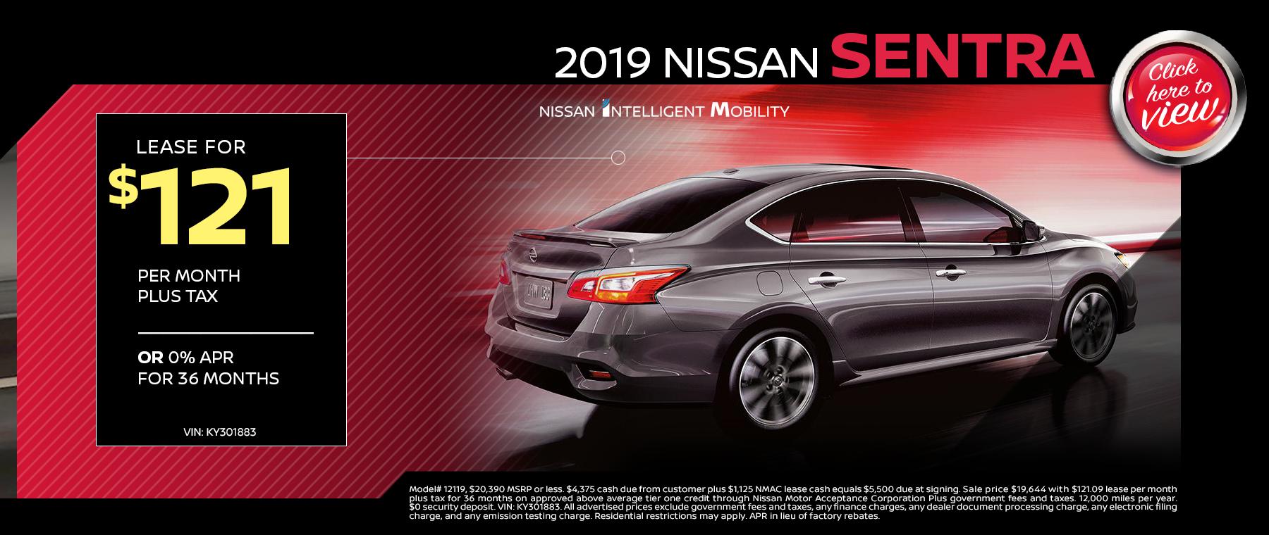 2019 sentra lease specials