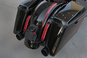 Harley-Davidson CVO Street Glide fender and exhaust