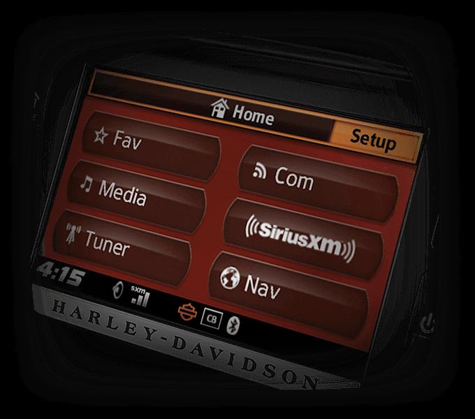 Road Glide® Ultra infotainment screen