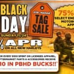 Pre-Black Friday Pre-Owned Tag Sale or 0% APR On All New Harleys