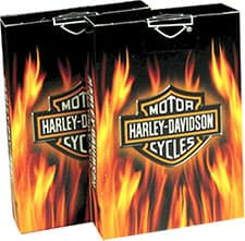 Harley Flame Playing Cards 610 Dart World