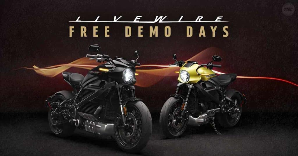 Harley LiveWire Electric Motorcycle Demo Rides