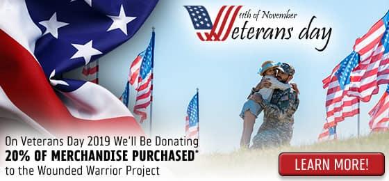 Donate 20% Veterans Day