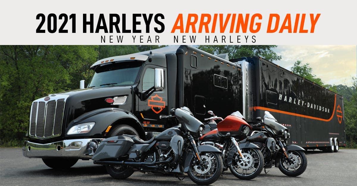 New 2021 Harley-Davidson motorcycle models in-stock