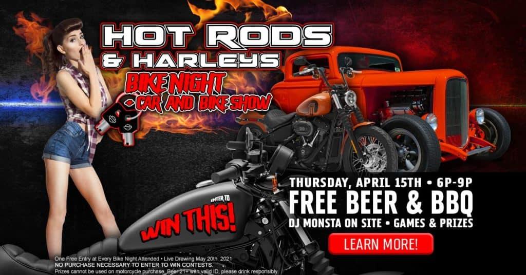 Hot Rods & Harleys Bike Night