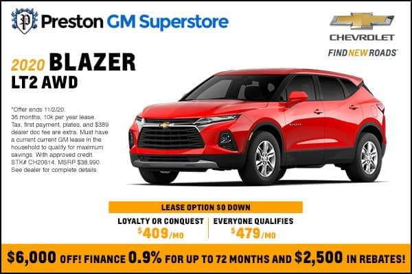 2020 Blazer LT2 AWD