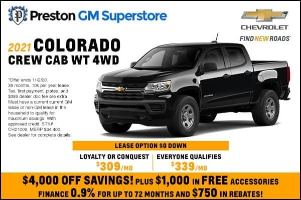 2021 Colorado Crew Cab WT 4WD