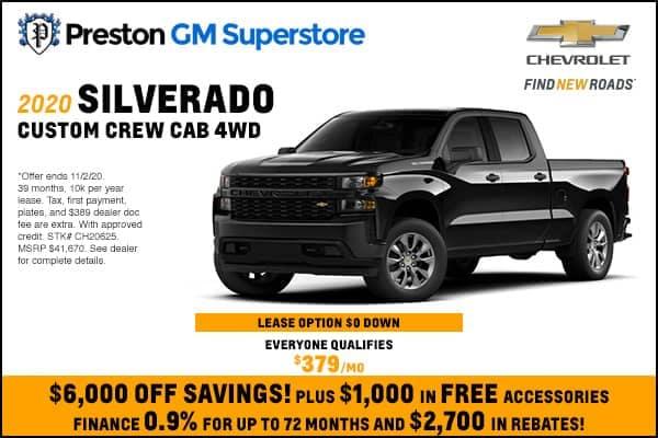 2020 Silverado Custom Crew Cab 4WD