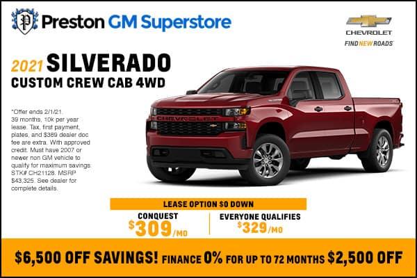 2021 Silverado Custom Crew Cab 4WD