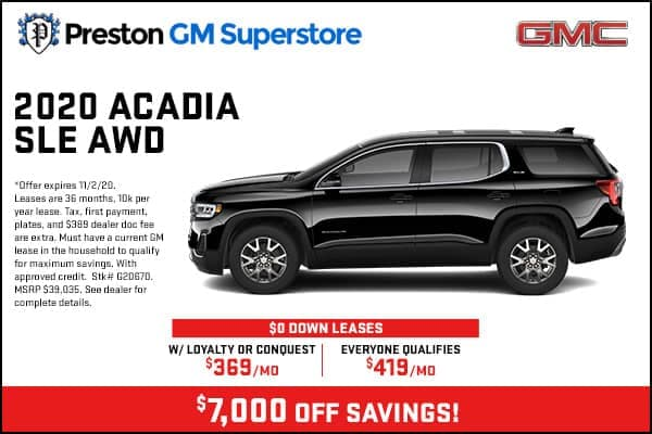 2020 Acadia SLE AWD