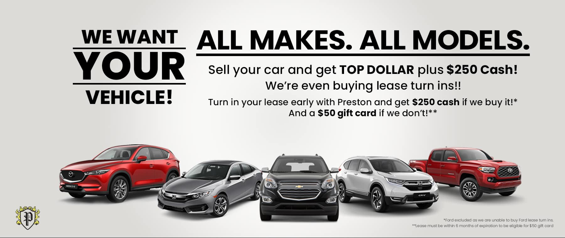 We Want Your Car Banner 1800×760