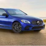 Blue Mercedes-Benz C-Class
