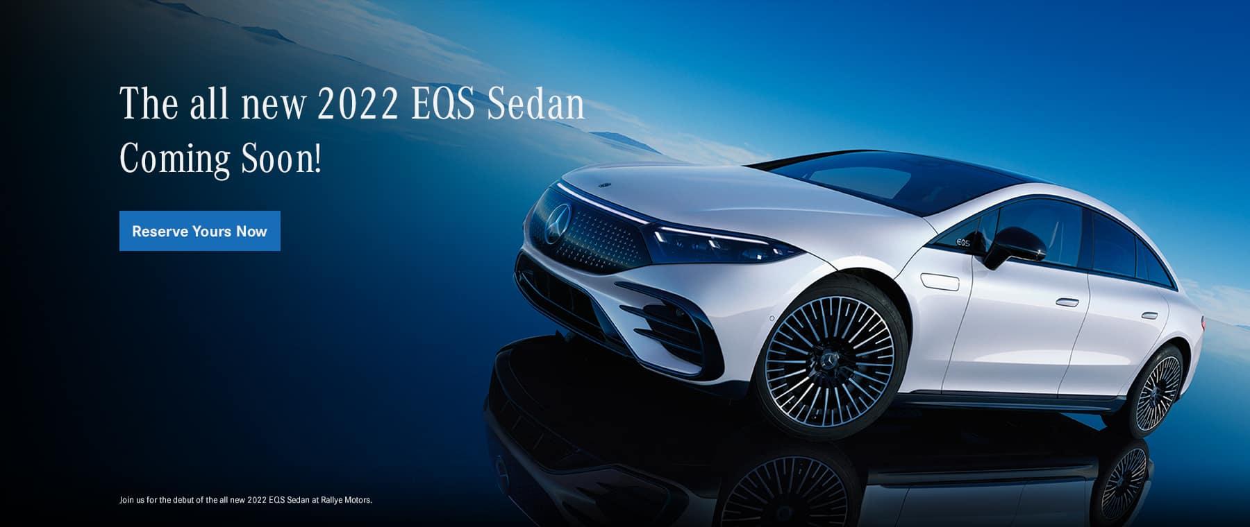 The all new 2022 EQS Sedan coming soon to Rallye Motors
