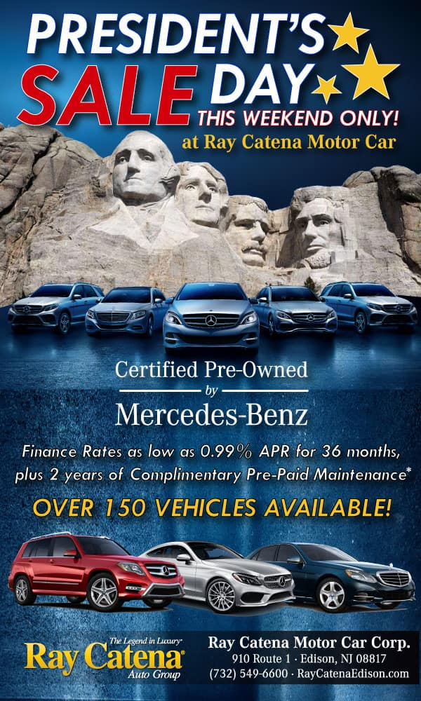 President 39 s day sale ray catena motor car corp for Ray catena mercedes benz edison