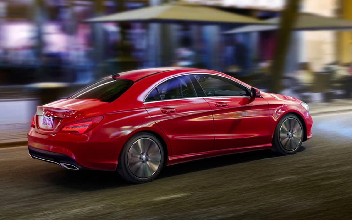 2018 red Mercedes CLA
