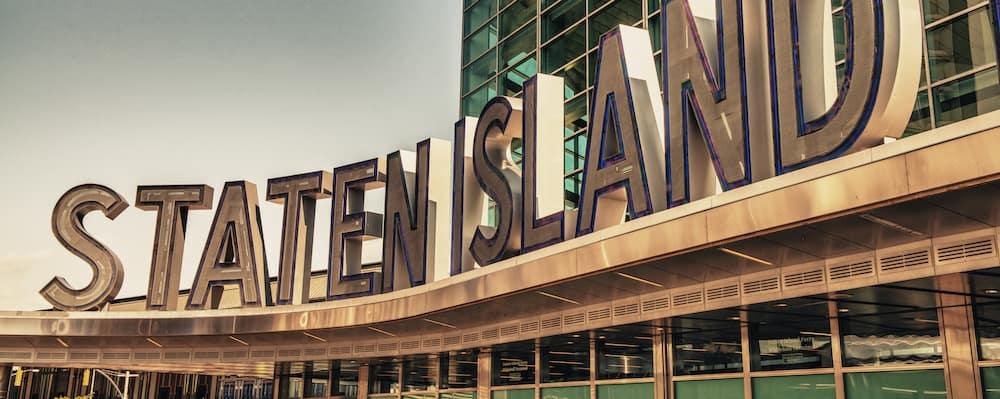 staten island ferry terminal sign