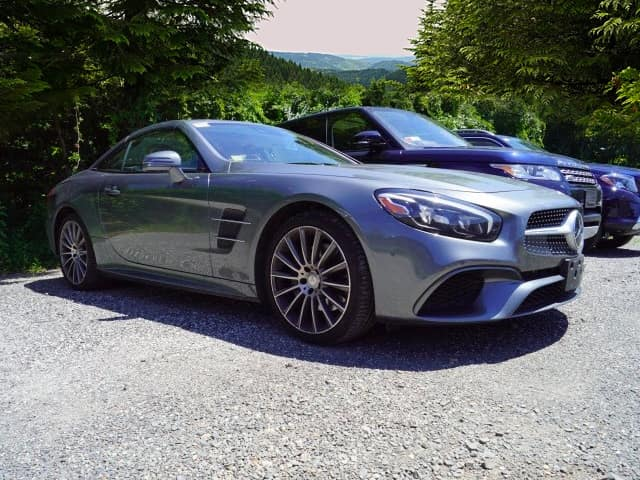 Certified Pre-Owned 2017 SL 550 Roadster, Selenite Grey Metallic, Ginger Beige/Espresso Brown Leather Interior, AMG Bodystyling, Ventilated Seats, Driver Asst Pkg, Bang & Olufsen BeoSound Surround Sound Sys, more...Orig MSRP $122,525