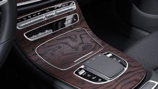 730 - Center Console in Natural Grain Brown Ash wood