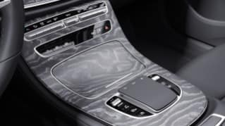 764 - Center Console in Natural Grain Grey Ash Wood
