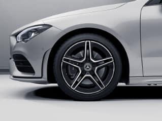 "RQT - 18"" AMG Twin 5-Spoke Wheels w/ Black Accents"