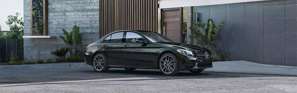 2019 Mercedes-Benz C-Class Sedan Parked in Front of Home