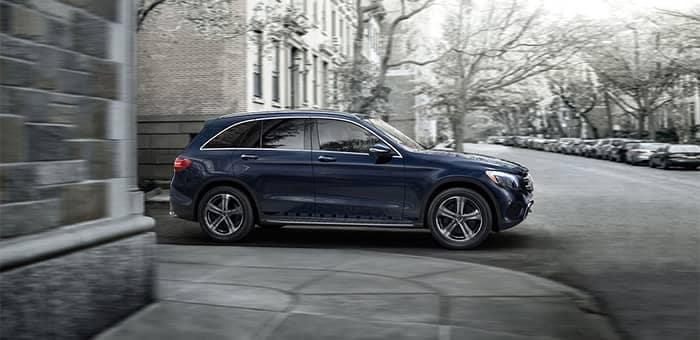 2019 Mercedes-Benz GLC SUV Turning a Street Corner