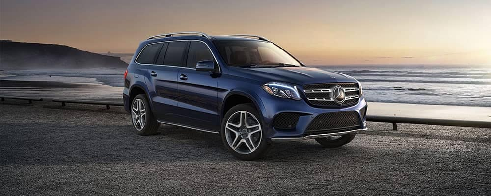 2019 Mercedes-Benz GLS parked in front of water