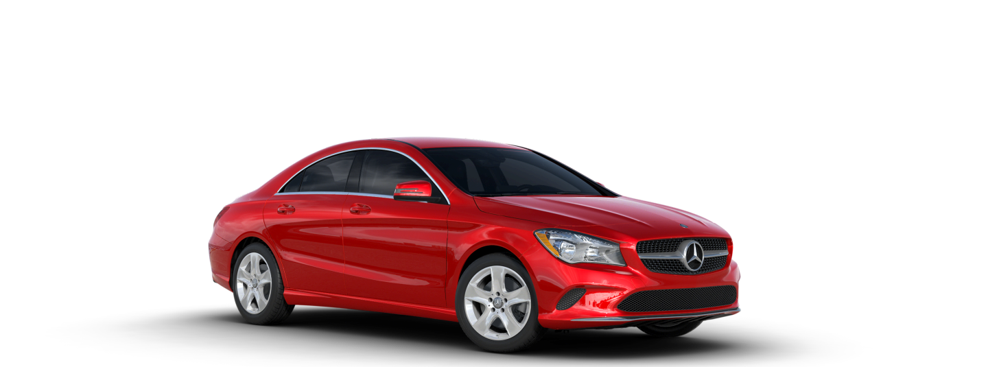 2019 Merceds-Benz Red CLA Coupe Angled