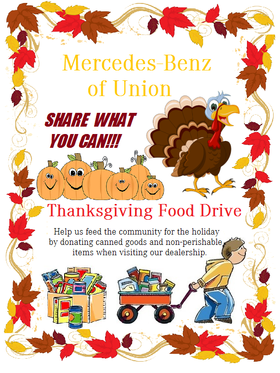 Thanksgiving Food Drive | Mercedes-Benz of Union