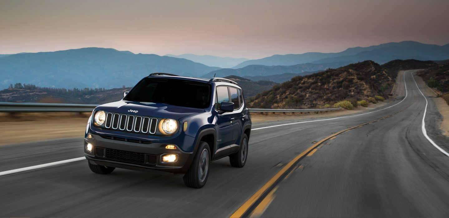 2017 Jeep Renegade Exterior Front Blue