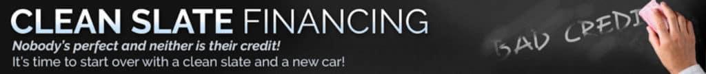 Clean Slate Financing banner