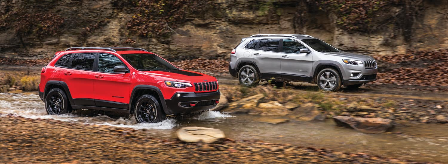 Two Jeep Cherokees offroading