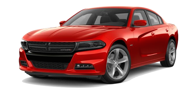 A red 2018 Dodge Charger
