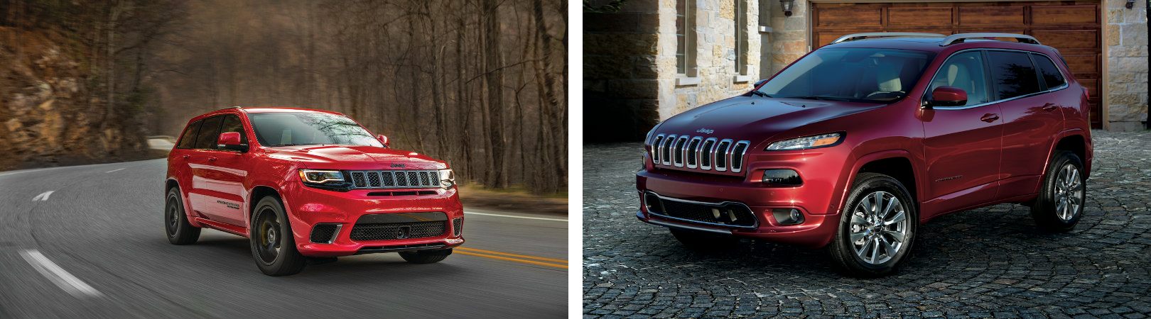 A comparison of the Jeep Grand Cherokee and Cherokee
